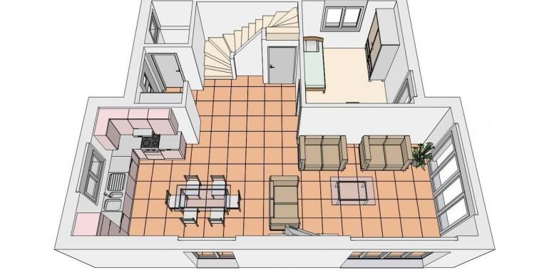 Seltisberg EFH Grundriss EG 3D-Ansicht