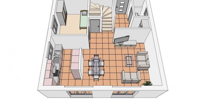 Niederlenz EFH Grundriss EG 3D-Ansicht